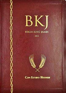 BÍBLIA KING JAMES 1611 COM ESTUDO HOLMAN - VINHO