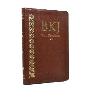 Bíblia King James Fiel 1611 Ultrafina Média Luxo Marrom