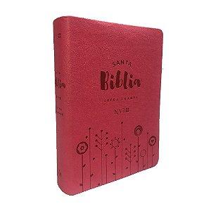 Santa Bíblia Em Espanhol NVI Letra Grande Capa Luxo Rosa