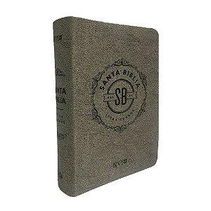 Santa Bíblia Em Espanhol NVI Letra Grande Capa Luxo Cinza