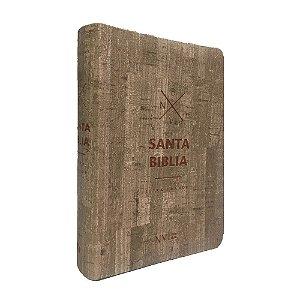 Santa Bíblia Em Espanhol NVI Letra Grande Capa Luxo Madeira