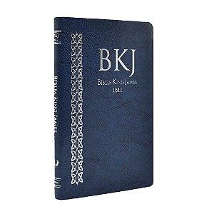Bíblia King James Fiel 1611 Ultrafina Média Azul