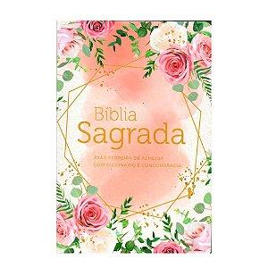 Bíblia Sagrada RC Letra Grande com Dicionário e Concordância Flores
