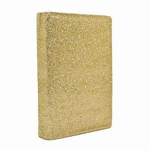 Bíblia Sagrada Letra Hipergigante Com Harpa Média Luxo Glíter Dourada