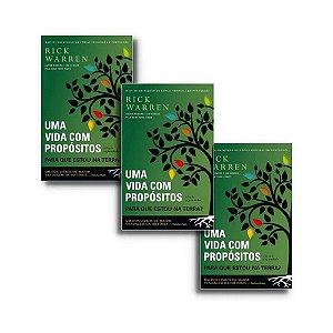 Kit Livro Uma Vida Com Propósitos - Rick Warren - 10 livros
