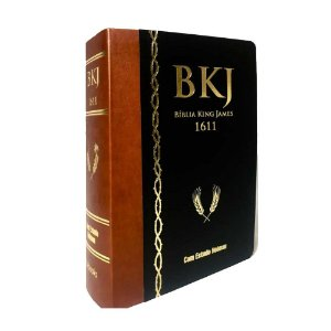 Bíblia King James 1611 Com Estudo Holman Marrom E Preto