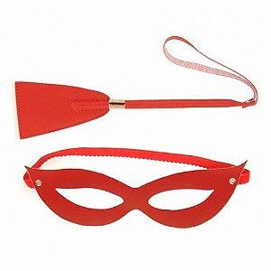 Kit Tiazinha Máscara e Chibatinha Vermelho
