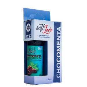 Gel Gelado Chocomenta para Sexo Oral 15ml