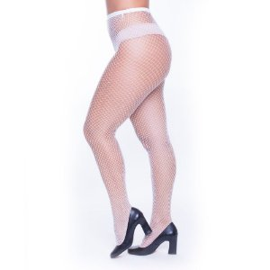 Meia Calça Arrastão Branca