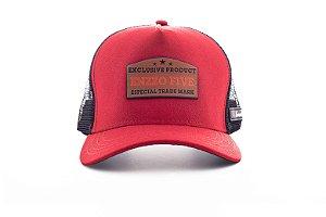 Boné Trucker enzzo exclusive vermelho