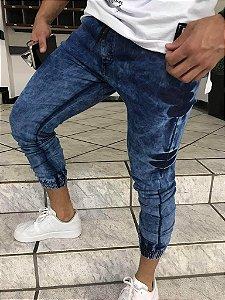 Calça estilo jogger jeans viez