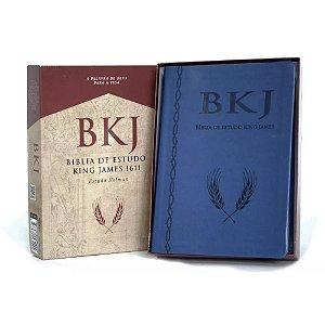 BIBLIA DE ESTUDO KING JAMES 1611 - AZUL - ESTUDO HOLMAN