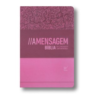 BÍBLIA A MENSAGEM SEMI-LUXO FEMININA ROSA