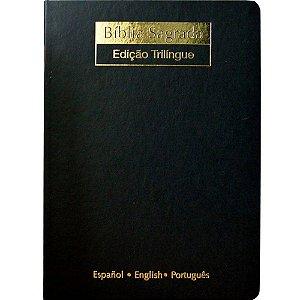 BÍBLIA SAGRADA - EDIÇÃO TRILÍNGUE (NVI) PRETA