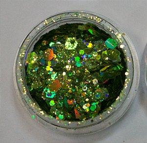 Coleção Brilhe Glitter Lime Green