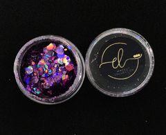 Coleção Brilhe Glitter Purple Galaxy