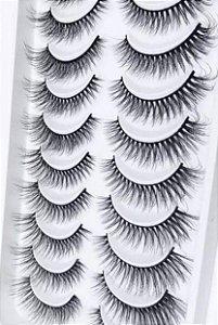 Cartela cílios Gatinho 10 pares