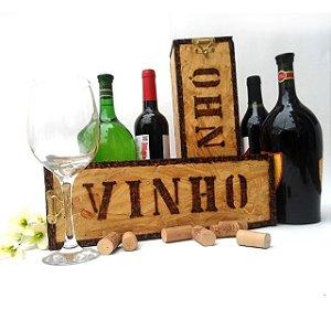 Caixa em Madeira Para Vinho