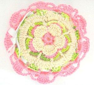 Sache de Crochê Flor