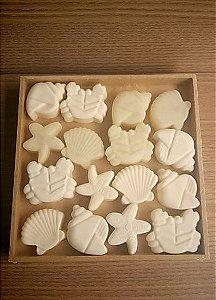 Sabonete Cold Process mini motivos do mar