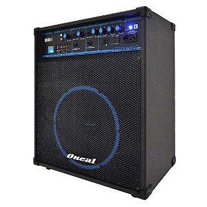 Caixa Amplificada Multiuso Oneal OCM-390 3 Canais com Entradas USB, Auxiliar RCA, Auxiliar P10, Cartão SD e Rádio FM – 80 W