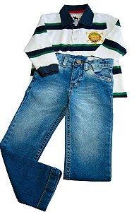 """Conjunto Polo com Calça Jeans """"CZS Show"""""""