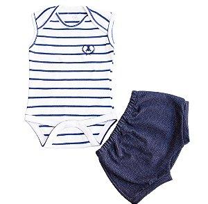 Body Regata Masculino + Short Jeans com Bolso