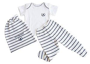 Pijama com Sacolinha Masculino Infantil.