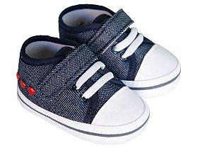 Sapato Cravinho Recém Nascido Jeans