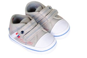 Sapato Cravinho Recém Nascido Cinza Velcro