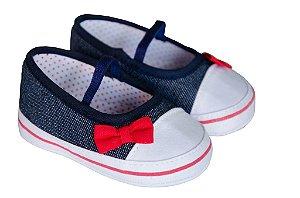 Sapato Cravinho Recém Nascido Fem Jeans