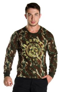 Camiseta Manga Longa Marines