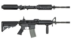 Rifle Airsoft Ares M4 RAS2 AEG (Preta)