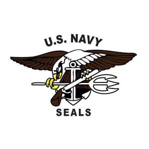 Adesivo U.S Navy Seals Branco