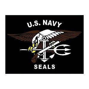 Adesivo U.S Navy Seals Preto