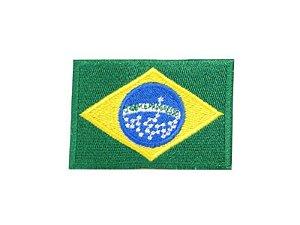Patch Bordado Bandeira do Brasil