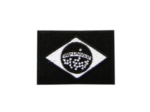 Bordado Patch Bandeira do Brasil Negativa