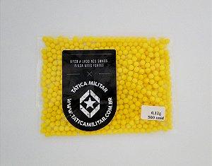 BBs p/ Airsoft 0,12g 500 Unidades Amarela - 6mm BB KING
