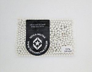 BBs p/ Marcadores 0,25g 500 Unidades Branca - 6mm BB KING