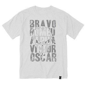 Camiseta Estampada Alfabeto Fonético