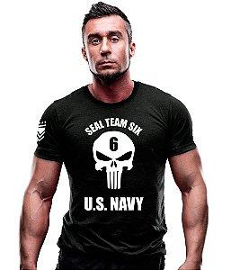 Camiseta Estampada Seal Team Six Punisher