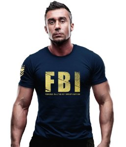 Camiseta Estampa Dourada FBI