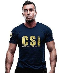 Camiseta Estampa Dourada CSI