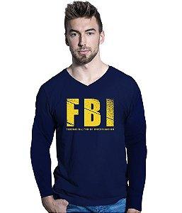Camiseta Manga Longa FBI