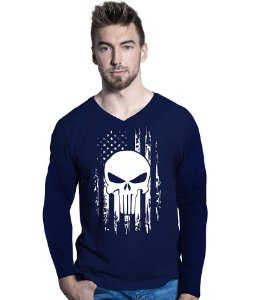 Camiseta Manga Longa EUA Punisher