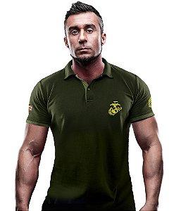 Camisa Gola Polo TeamSix Marines