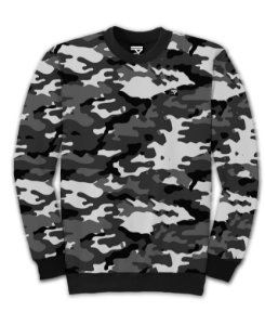 Moletom Fechado Full Camo Grey