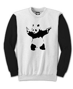 Moletom Fechado Panda Gun