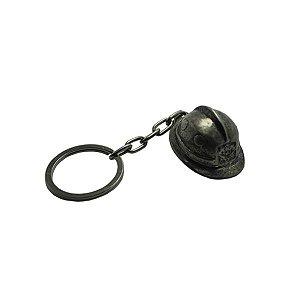 Chaveiro de Metal Capacete Soldado (Cromado ou Dourado)
