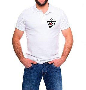 Camisa Masculina Gola Polo Branca AK47
